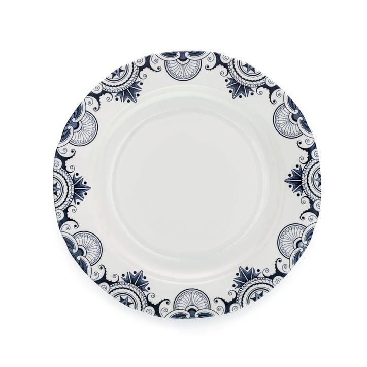 Ink Blue Palisade Dinner Plate