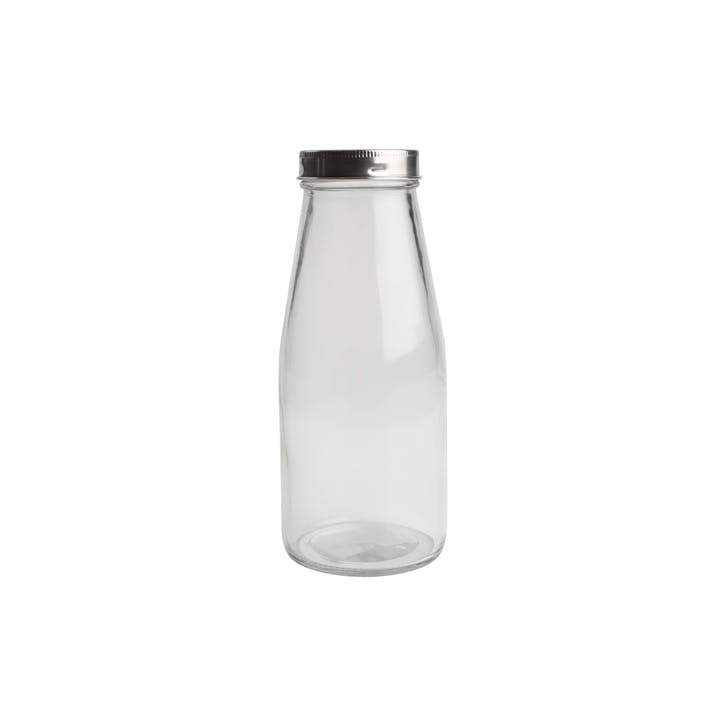 Small Glass Bottle With Stainless Steel Lid