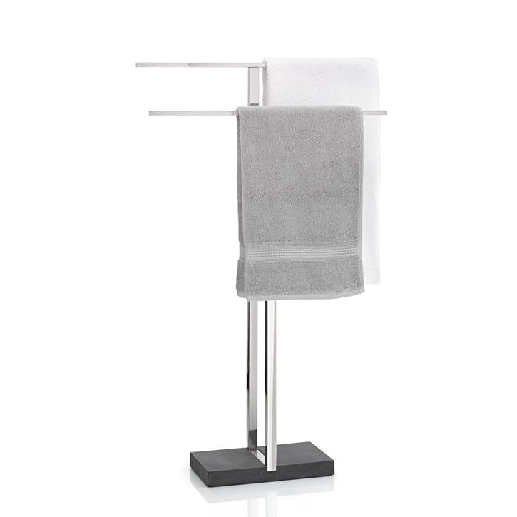 Menoto Towel Stand, Stainless Steel