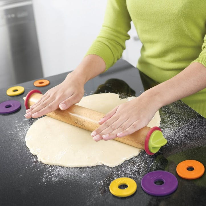 Adjustable Rolling Pin With Measuring Rings, Multi