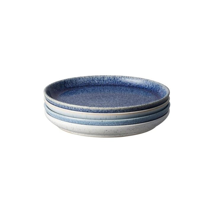 Studio Blue Small Coupe Plate, Set of 4