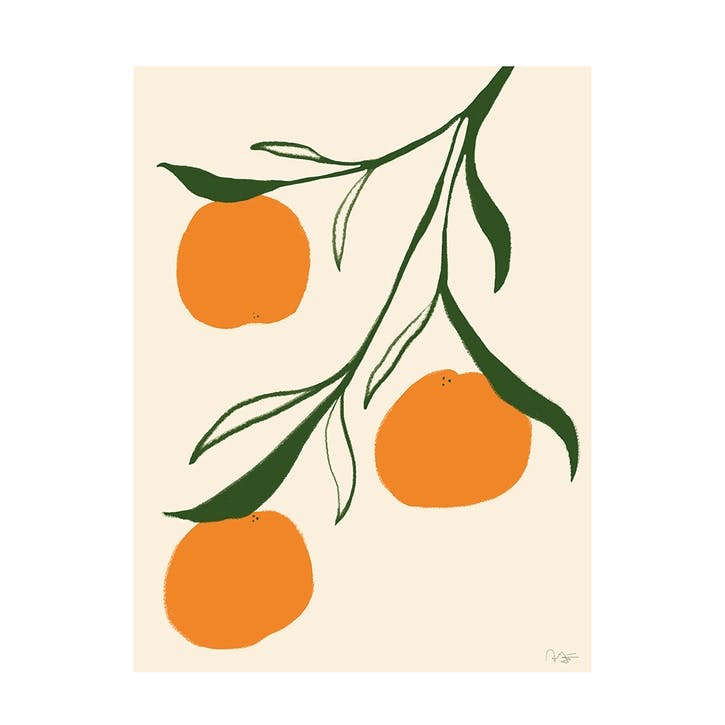 Orange - Anna Morner Art Print D50cm x H70cm