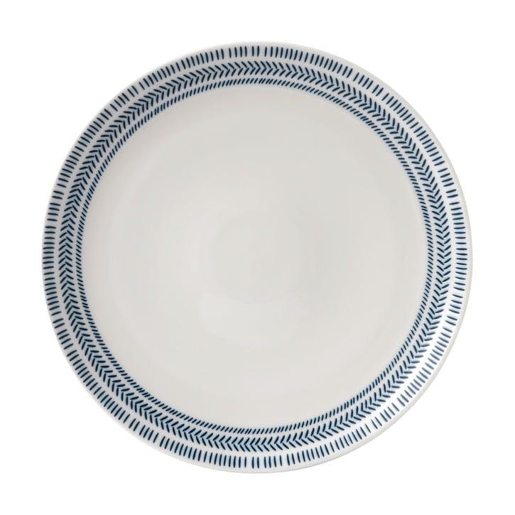 ED Ellen DeGeneres Dinner Plate, Cobalt Blue Chevron