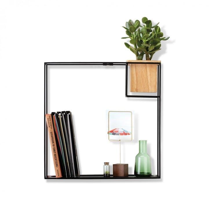 Cubist Shelf, Large, Black