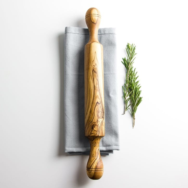 Traditional Olive Wood Rolling Pin - 37cm