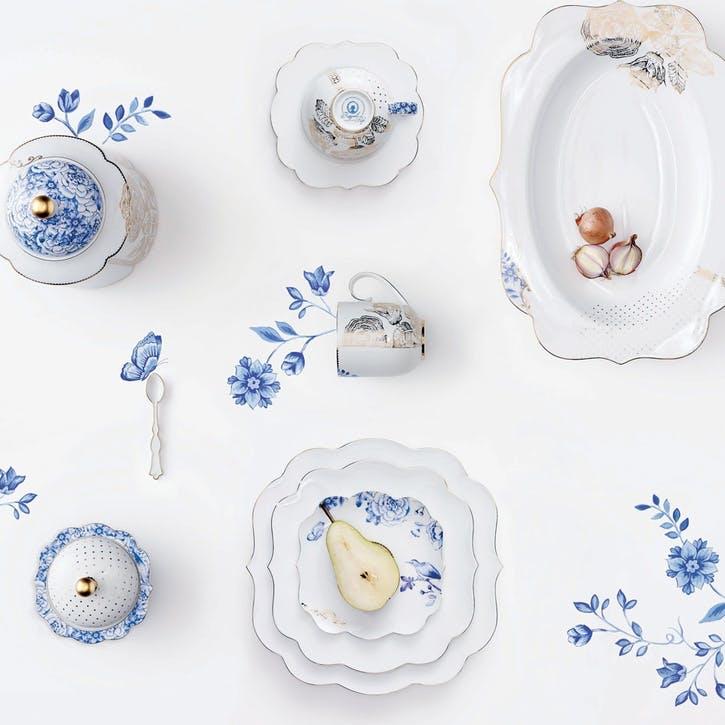PiP Royal White Cake Plate
