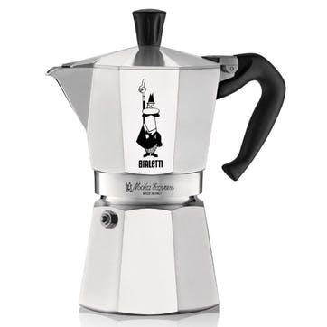 Moka Express Espresso Maker, 4 Cup, Silver