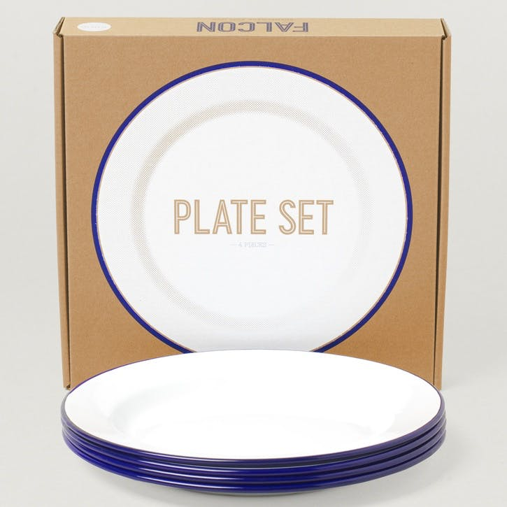 Plate Set, Blue