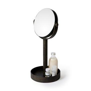 Close Up Mirror, Dark Oak