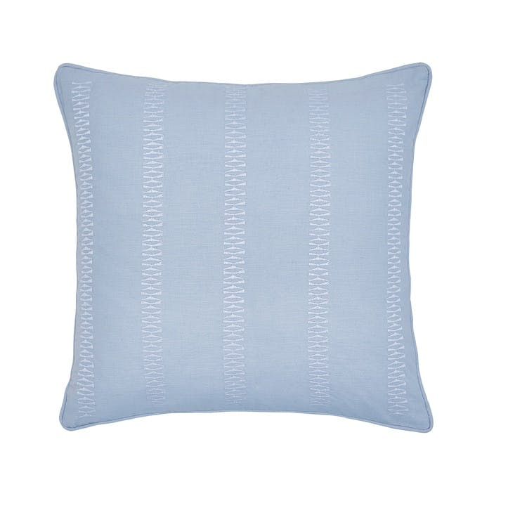 Birch Cushion, Sky Blue