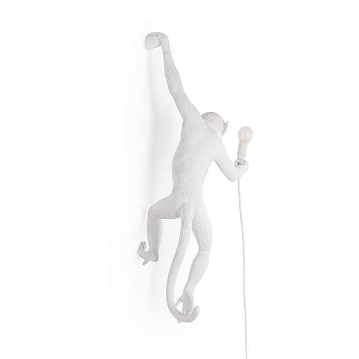 Monkey Lamp, Hanging Left White