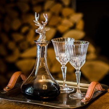 Decanter With Stag Head Stopper