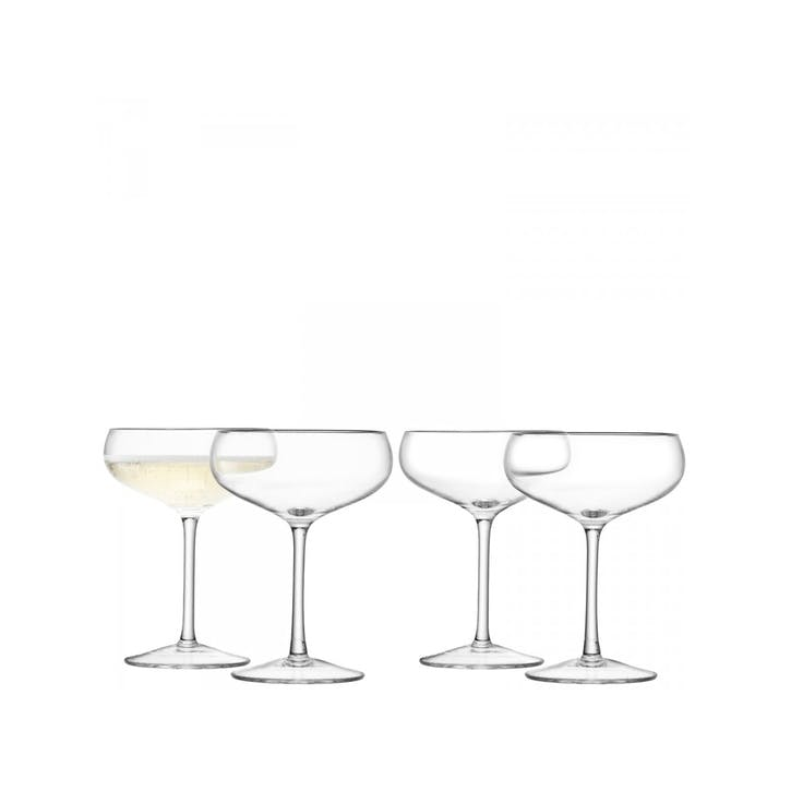 LSA Wine Champagne Saucer, Set of 4, 215ml