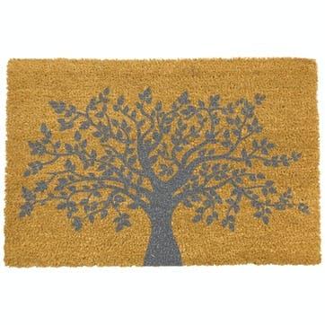 Tree of Life Doormat, Grey