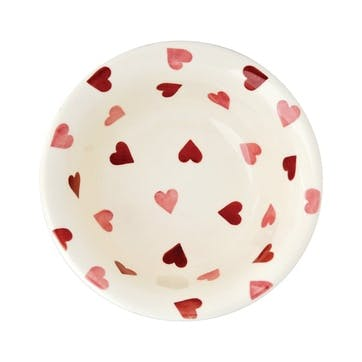 Pink Hearts Cereal Bowl, 16.5cm