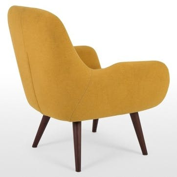 Moby Accent Chair, Yolk Yellow