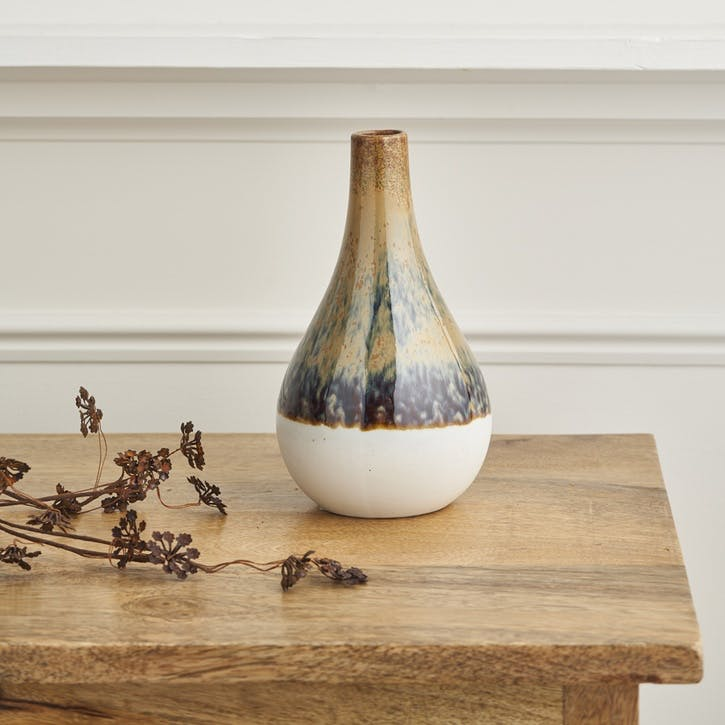 Two Tone Natural Tapered Vase
