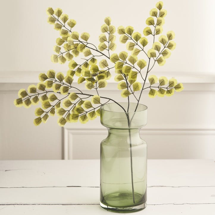 Forest Green Glass Vase