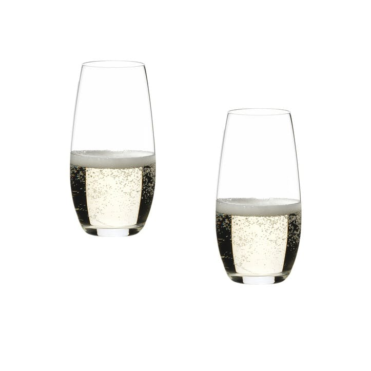"""O"" Champagne Glass, Set of 2"