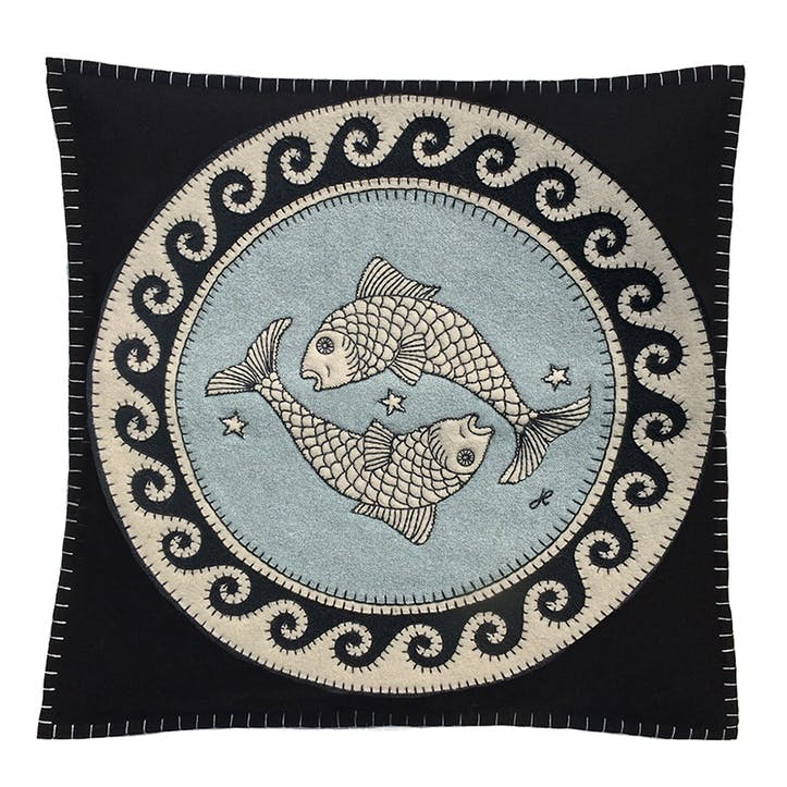 Pisces Cushion, 46 x 46cm, Multi