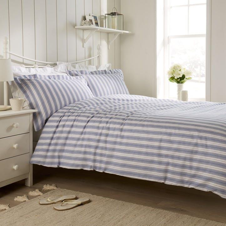 New England Bedding Set, Super King, Harbour Blue