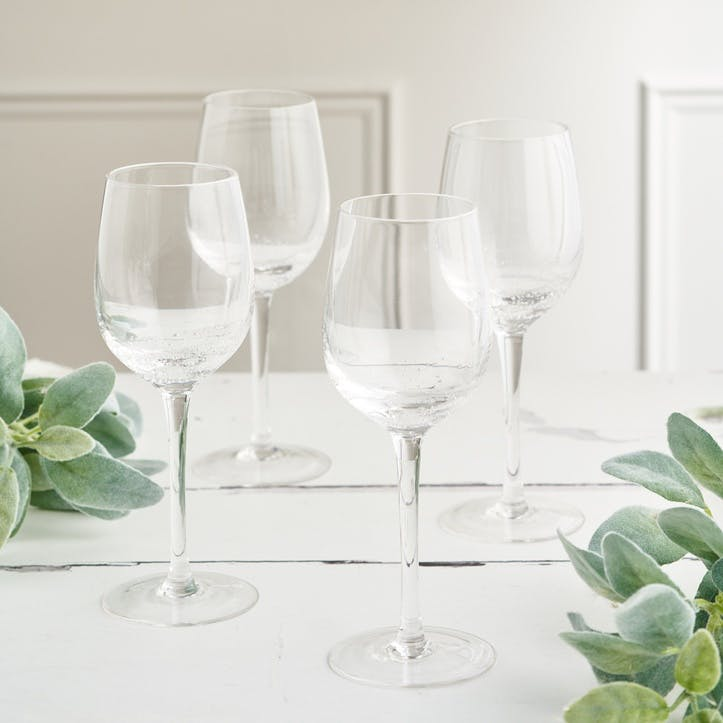 Jewel Bubble White Wine Glass, Set of 4