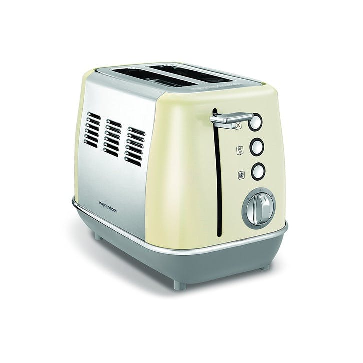 Evoke 2 Slice Toaster; Cream