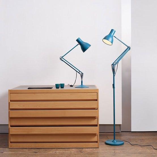 Anglepoise blue lamp