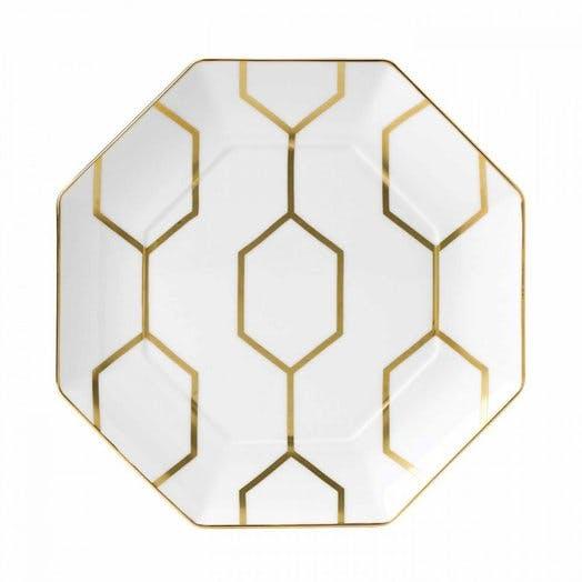 Wedgwood Arris White Octagonal 23cm Side Plate
