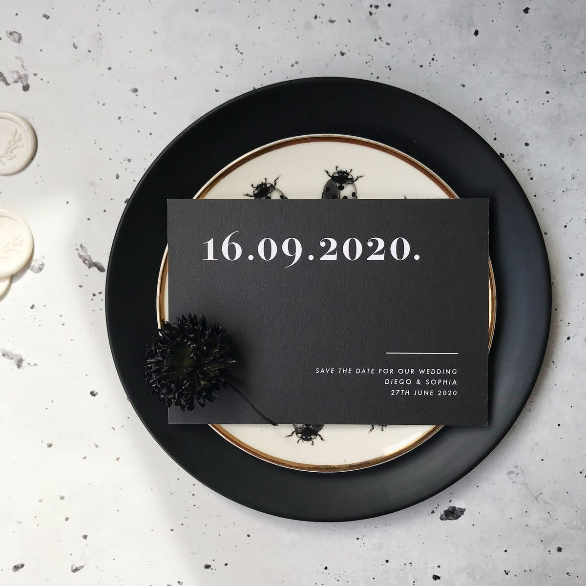 PaperGrace save the date invitation