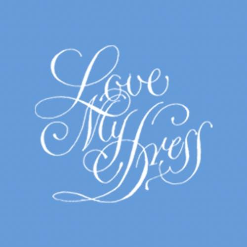 Love My Dress logo blue