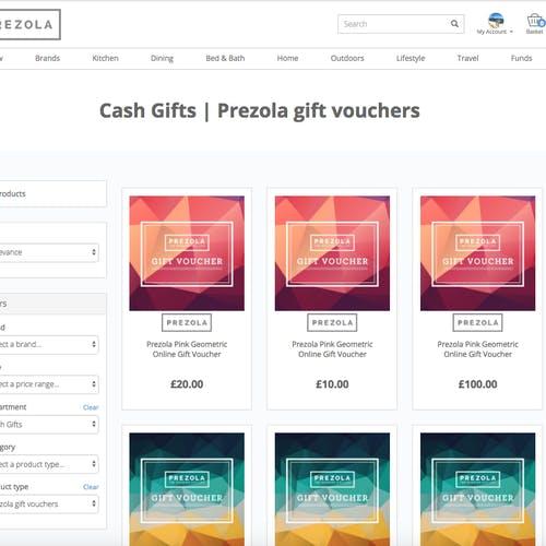 Prezola Gift Vouchers Screenshot