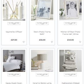 A Prezola wedding list with homeware from The White Company