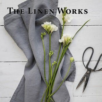 The Linen Works LP Square w. Logo