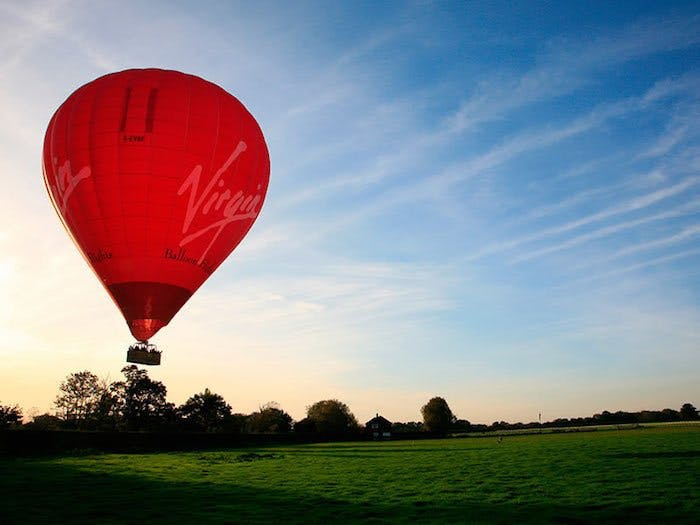 Virgin Balloon flight
