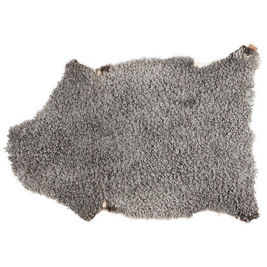 Shepherd sheepskin grey rug