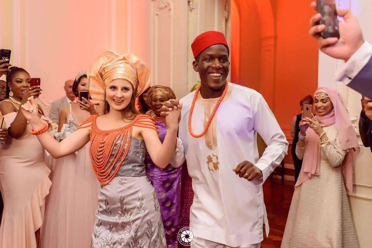 Nigerian wedding dancing