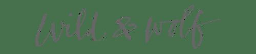 Wild & Wolf Menu Footer Logo